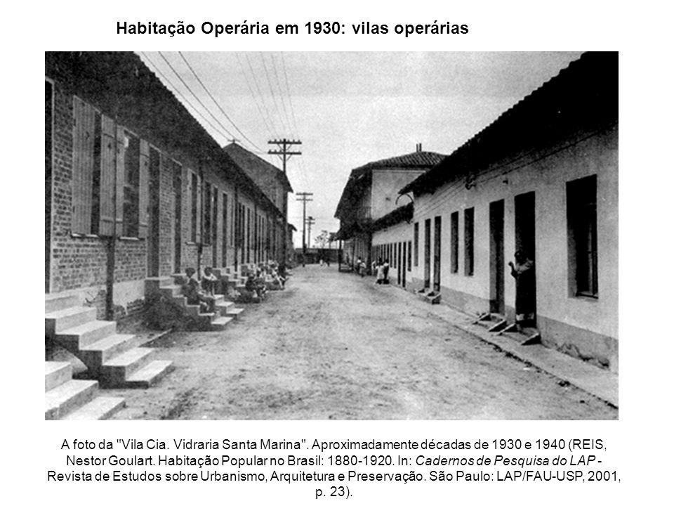 Habitação operária em 1930: cortiços Cortiço no Bexiga Fonte : BONDUKI, Nabil G.