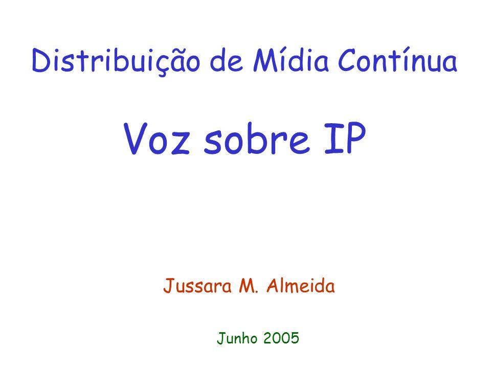Distribuição de Mídia Contínua Voz sobre IP Jussara M. Almeida Junho 2005