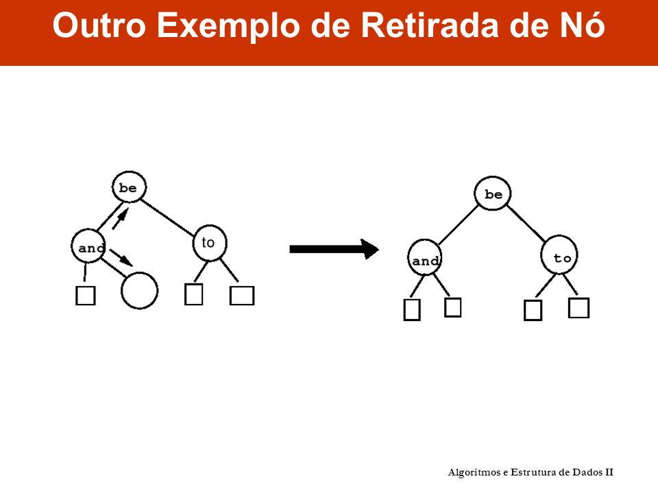 Outro Exemplo de Retirada de Nó Algoritmos e Estrutura de Dados II