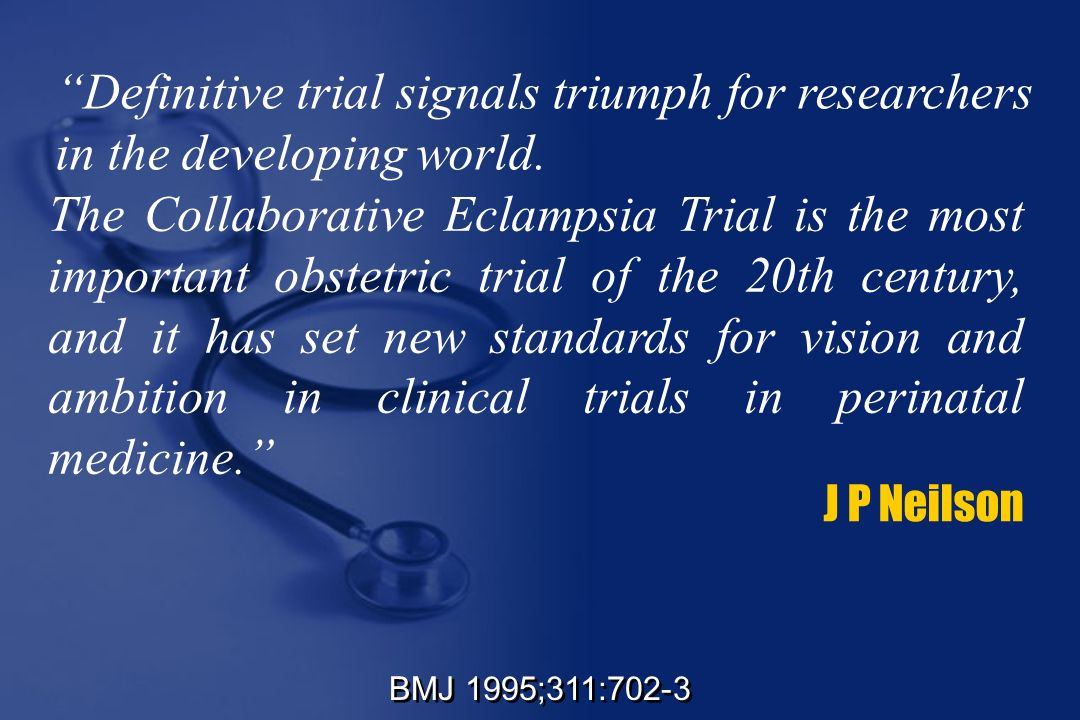 Definitive trial signals triumph for researchers in the developing world.
