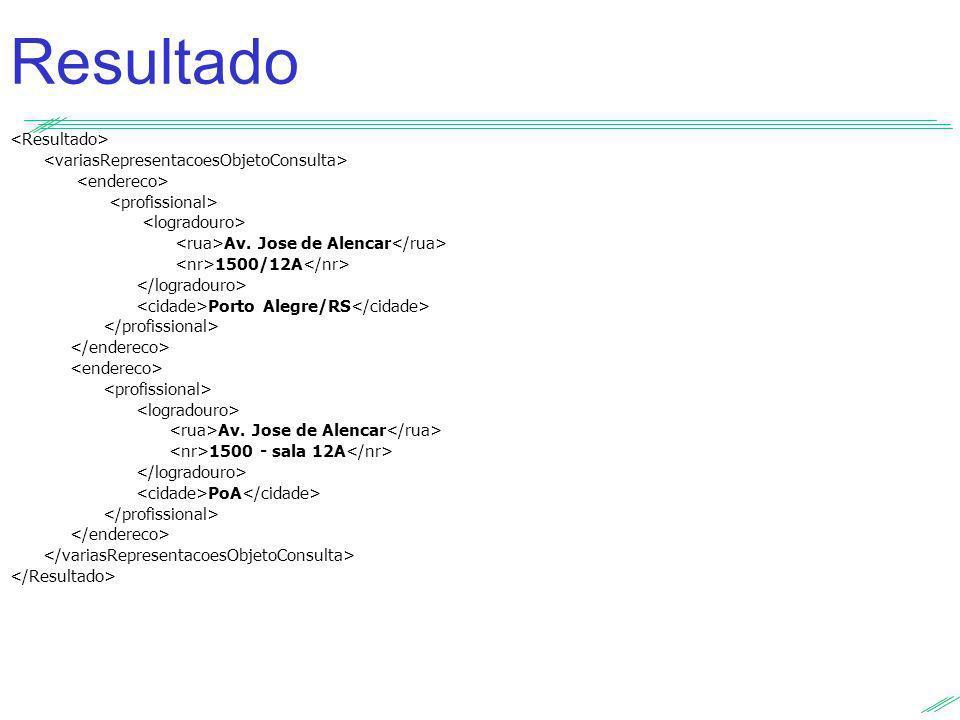 Av. Jose de Alencar 1500/12A Porto Alegre/RS Av. Jose de Alencar 1500 - sala 12A PoA Resultado