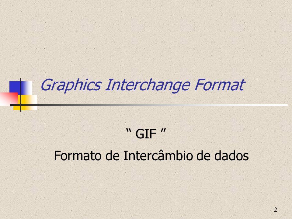 3 O que é GIF ? Extensão aplicada à imagens comprimidas e codificadas pela LZW