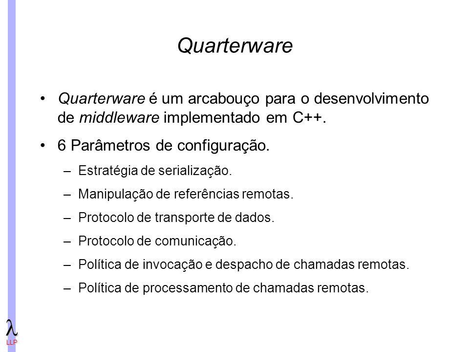 LLP Quarterware Quarterware é um arcabouço para o desenvolvimento de middleware implementado em C++.