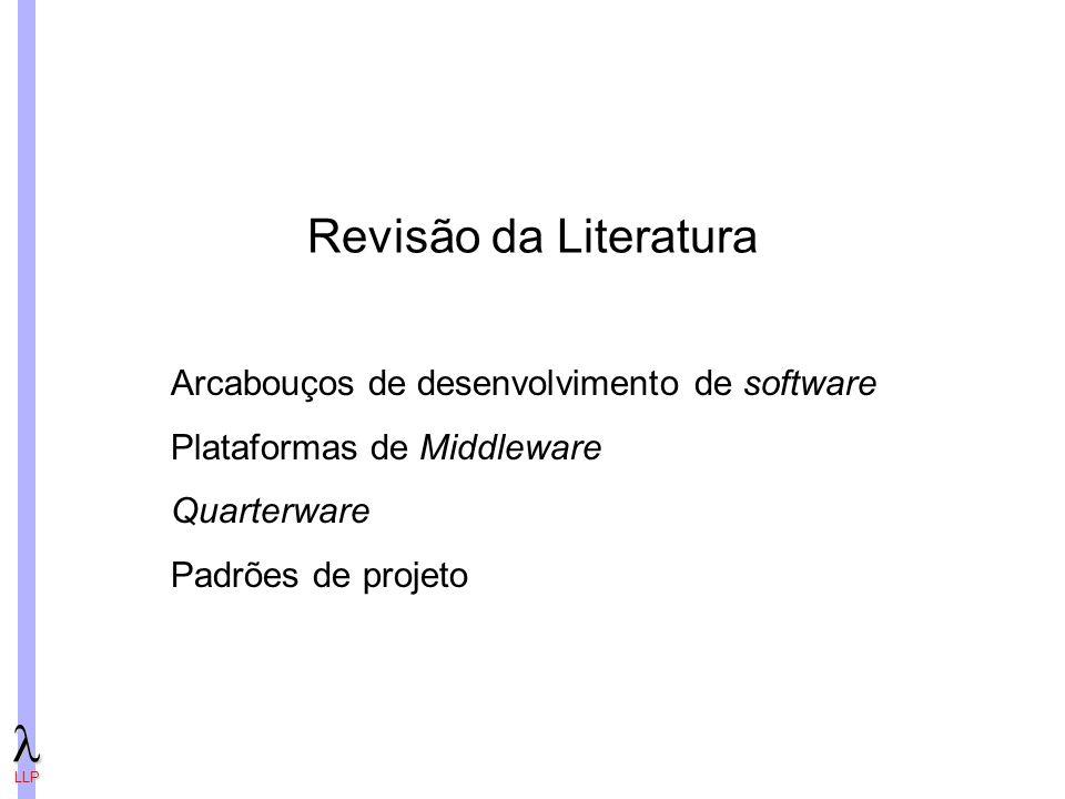 LLP Revisão da Literatura Arcabouços de desenvolvimento de software Plataformas de Middleware Quarterware Padrões de projeto