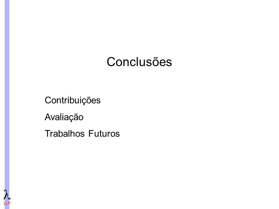 LLP Conclusões Contribuições Avaliação Trabalhos Futuros
