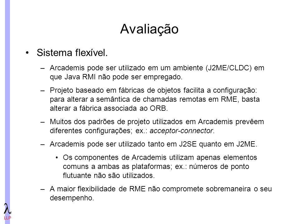 LLP Avaliação Sistema flexível.