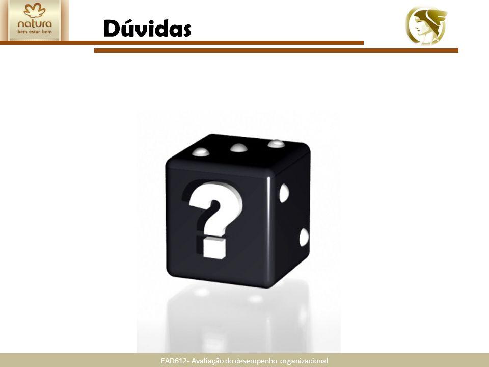 EAD612- Avaliação do desempenho organizacional Dúvidas