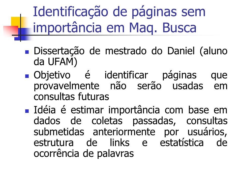 Identificação de páginas sem importância em Maq.