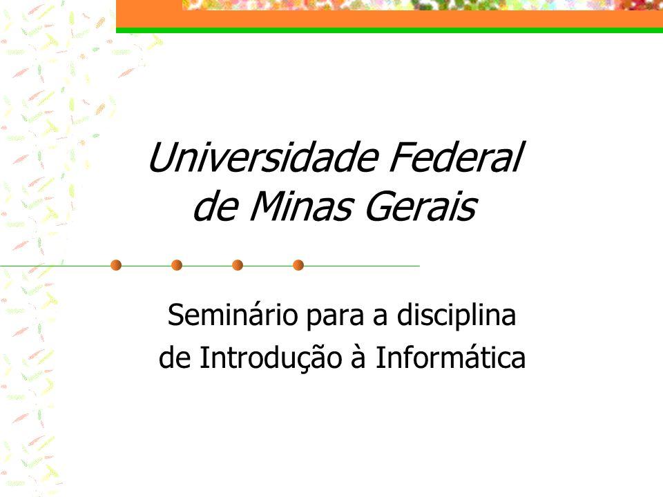 Universidade Federal de Minas Gerais Seminário para a disciplina de Introdução à Informática