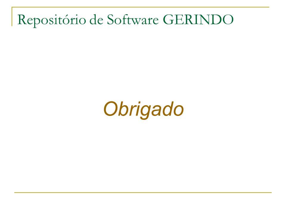 Obrigado Repositório de Software GERINDO