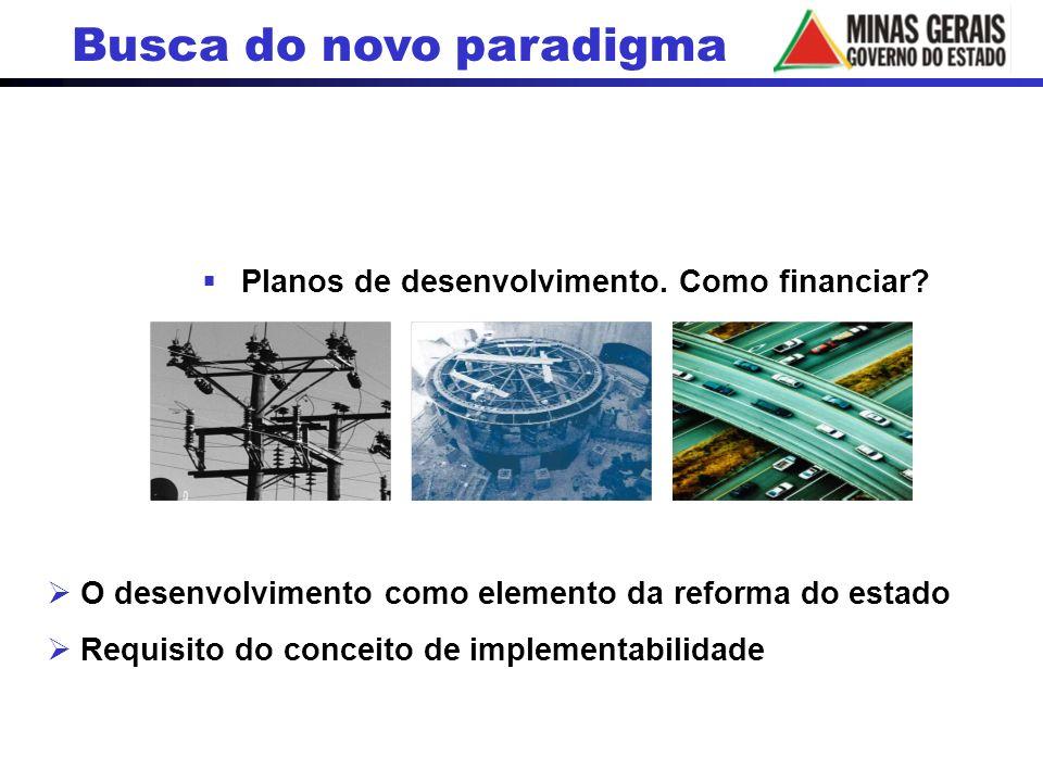 Planos de desenvolvimento. Como financiar? O desenvolvimento como elemento da reforma do estado Requisito do conceito de implementabilidade Busca do n