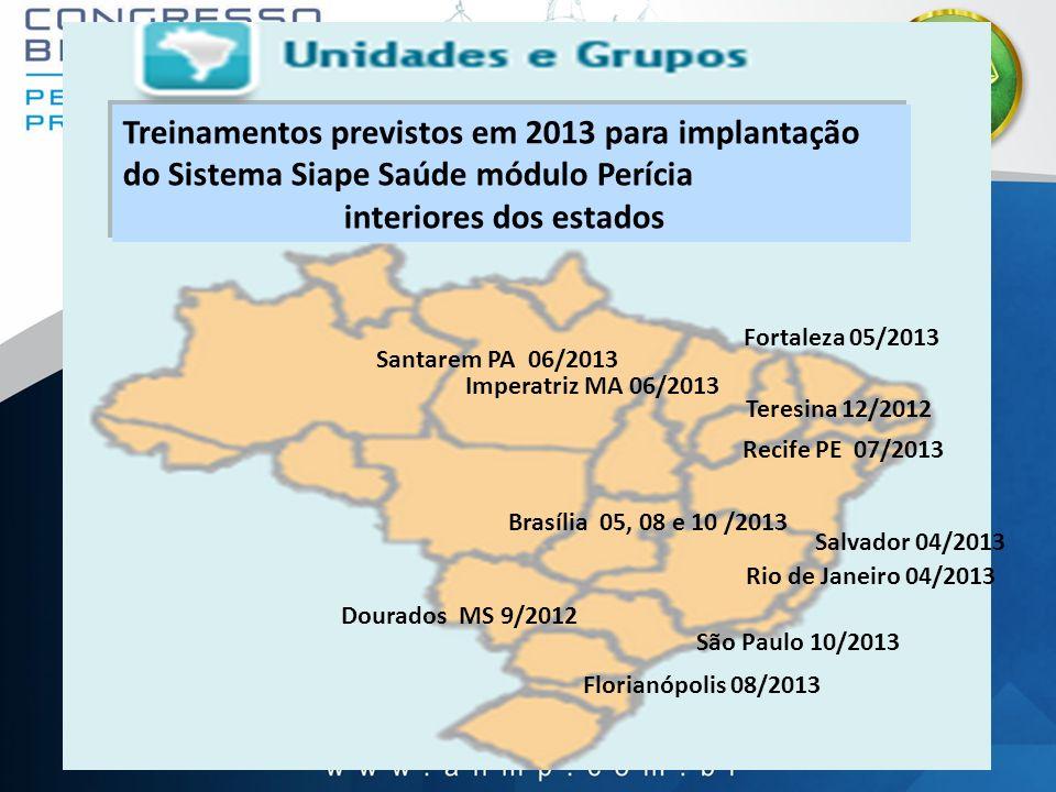 26 Dourados MS 9/2012 Salvador 04/2013 Brasília 05, 08 e 10 /2013 São Paulo 10/2013 Florianópolis 08/2013 Rio de Janeiro 04/2013 Teresina 12/2012 Fort