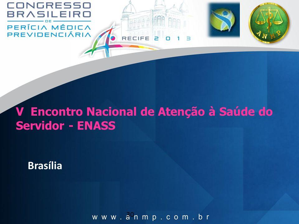 30 V Encontro Nacional de Atenção à Saúde do Servidor - ENASS Brasília