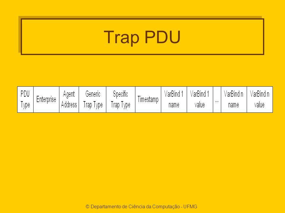 © Departamento de Ciência da Computação - UFMG Trap PDU