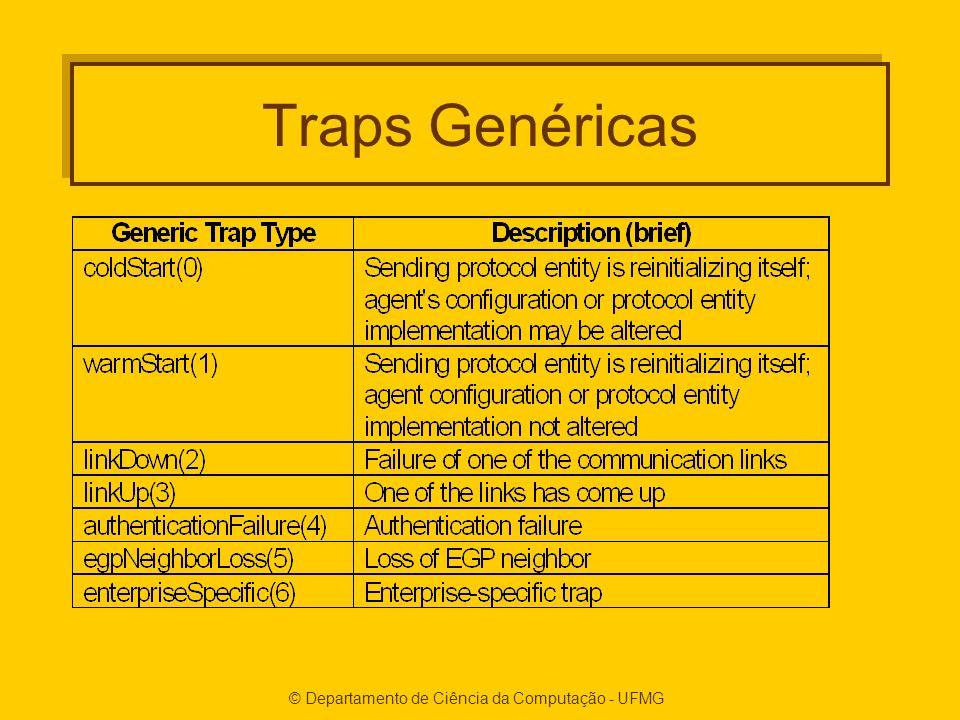 © Departamento de Ciência da Computação - UFMG Traps Genéricas