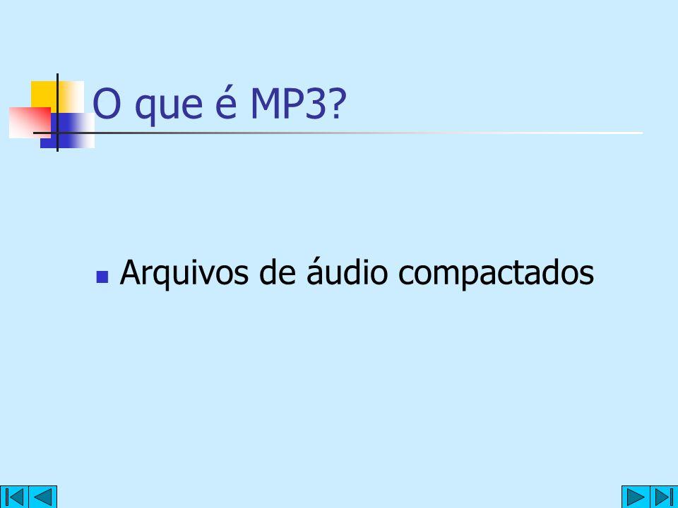 O que é MP3? Arquivos de áudio compactados
