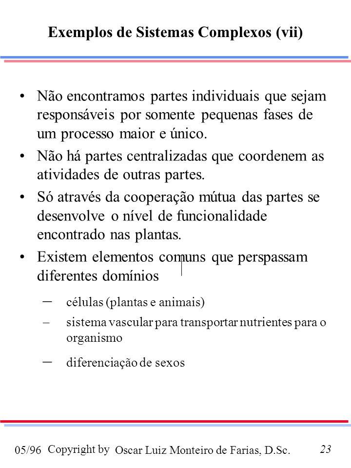 Oscar Luiz Monteiro de Farias, D.Sc.05/96 Copyright by23 Não encontramos partes individuais que sejam responsáveis por somente pequenas fases de um processo maior e único.
