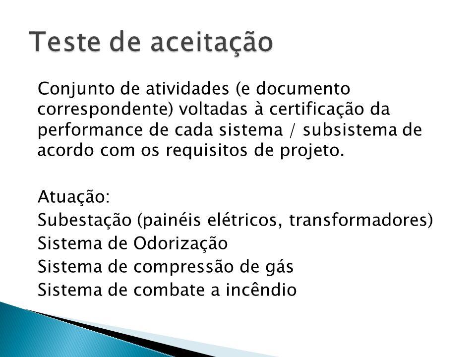 Conjunto de atividades (e documento correspondente) voltadas à certificação da performance de cada sistema / subsistema de acordo com os requisitos de