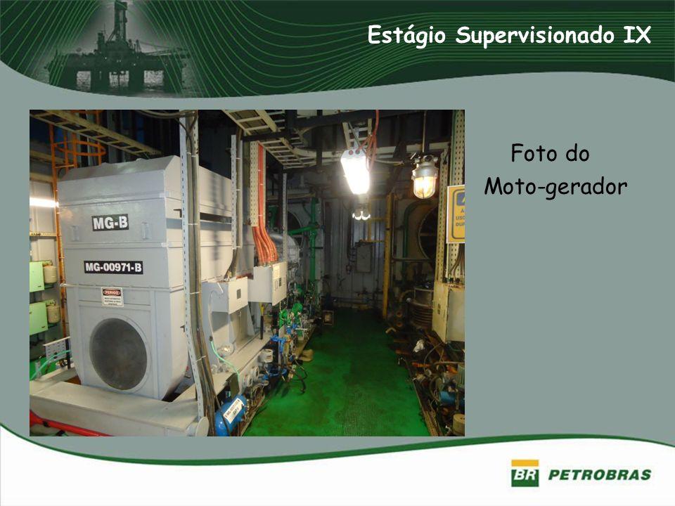 Foto do Moto-gerador Estágio Supervisionado IX
