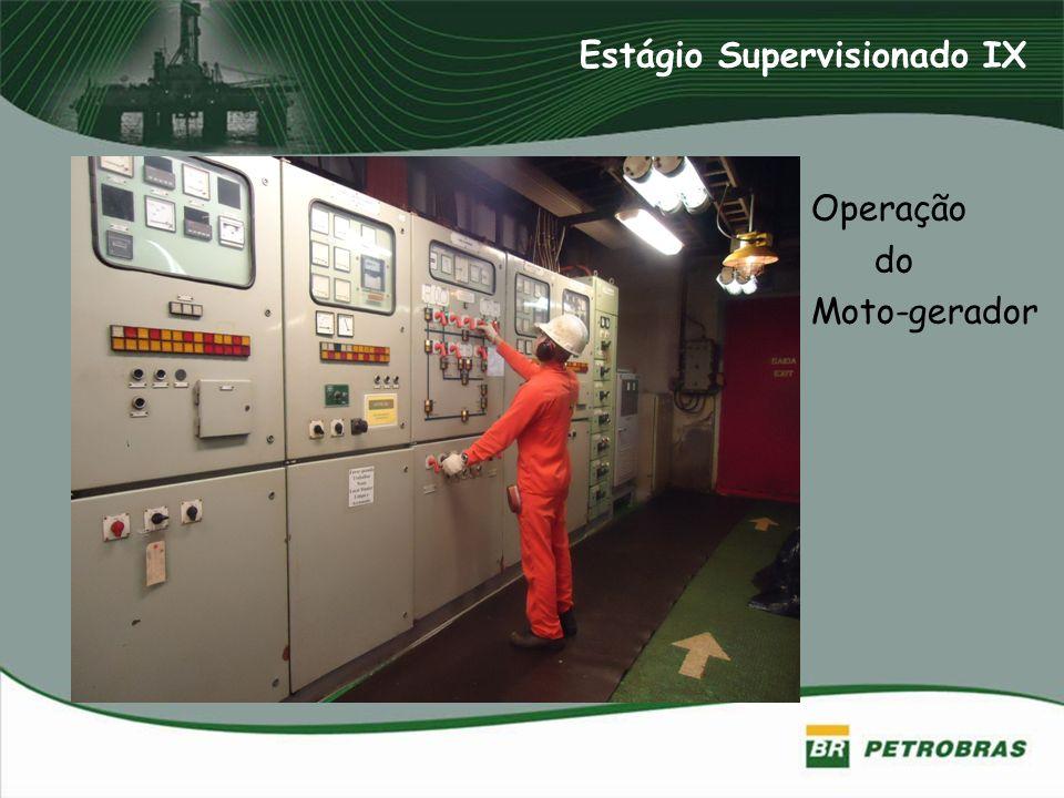 Operação do Moto-gerador Estágio Supervisionado IX
