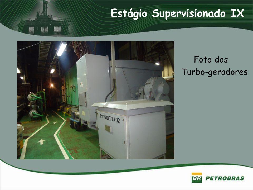 Foto dos Turbo-geradores Estágio Supervisionado IX