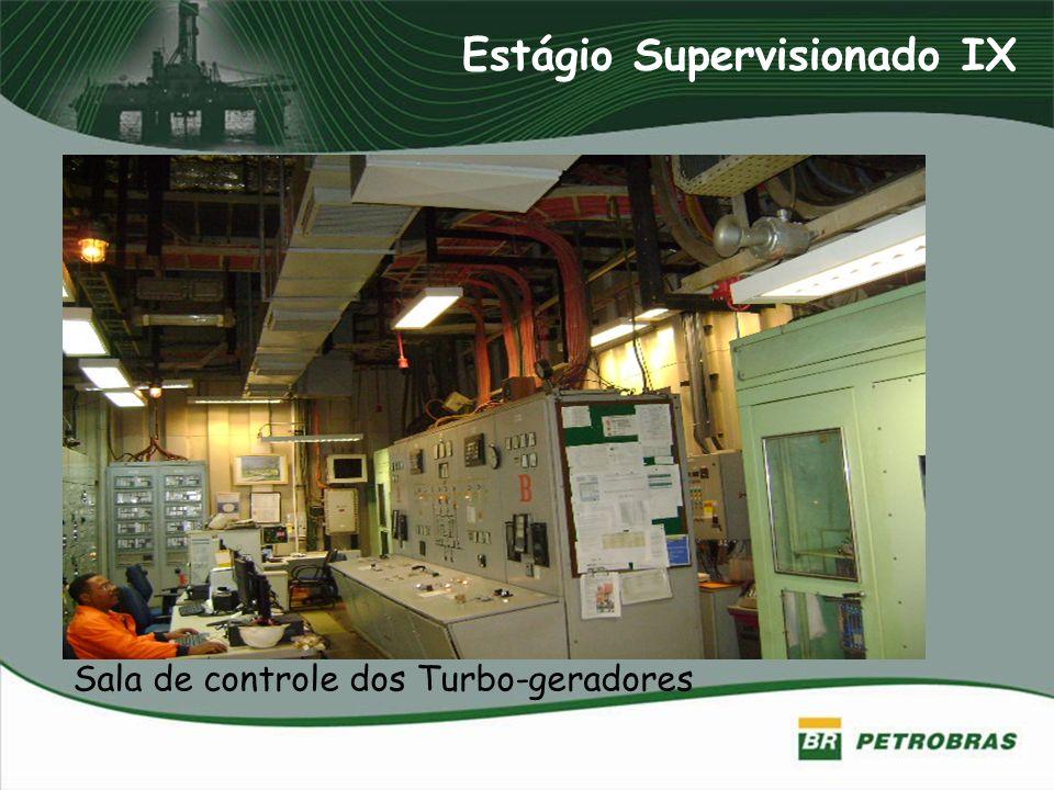 Sala de controle dos Turbo-geradores