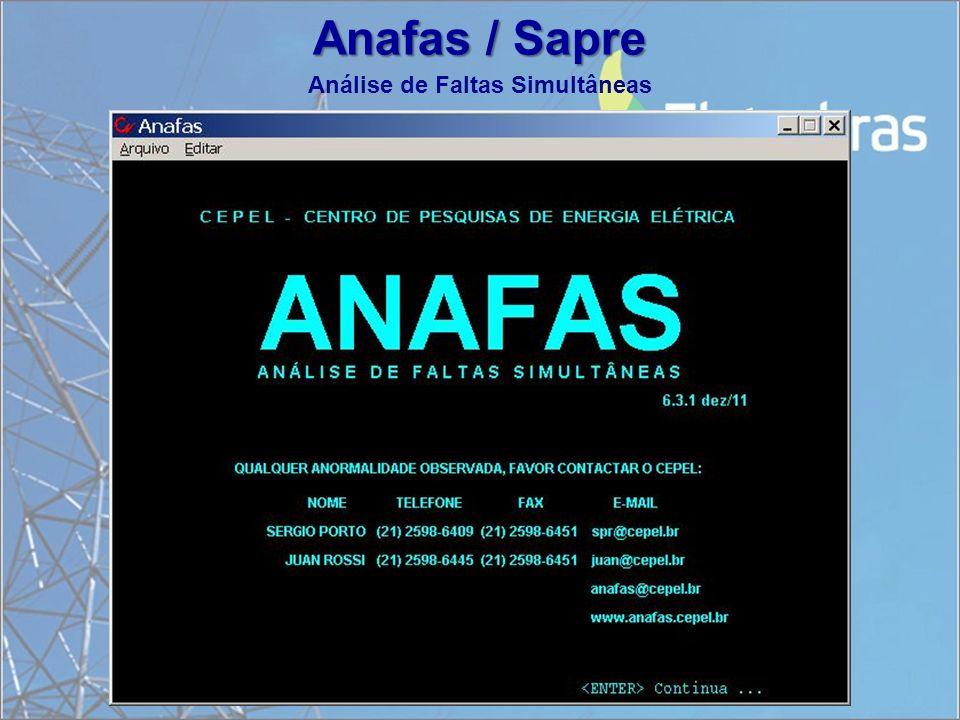 Anafas / Sapre Análise de Faltas Simultâneas