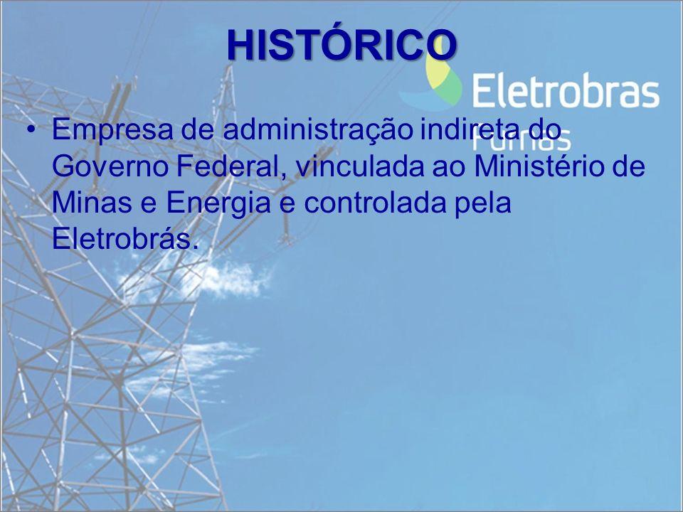 Empresa de administração indireta do Governo Federal, vinculada ao Ministério de Minas e Energia e controlada pela Eletrobrás. HISTÓRICO