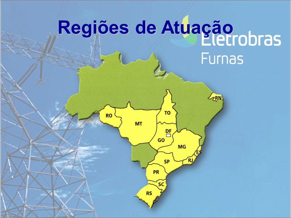 EMPREENDIMENTOS 15 usinas hidrelétricas; 2 termelétricas; 20 mil km de linhas de transmissão; 52 subestações.