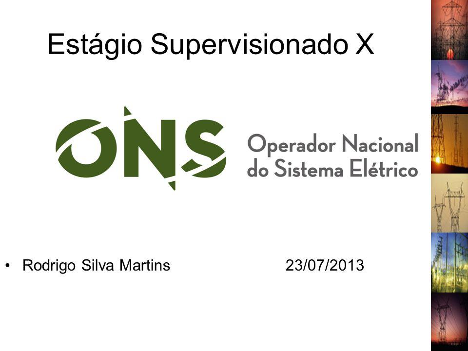 Estágio Supervisionado X Rodrigo Silva Martins23/07/2013 1