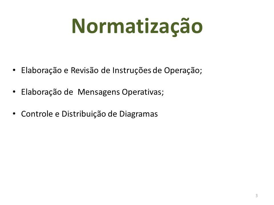 3 Elaboração e Revisão de Instruções de Operação; Elaboração de Mensagens Operativas; Controle e Distribuição de Diagramas