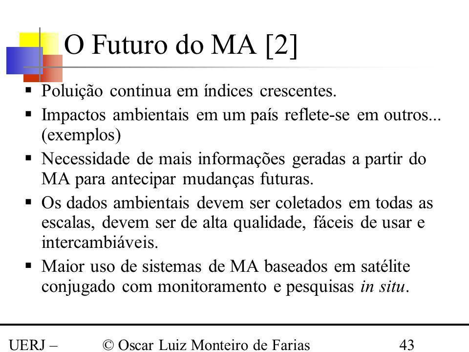 UERJ – Março 2008 © Oscar Luiz Monteiro de Farias43 Poluição continua em índices crescentes. Impactos ambientais em um país reflete-se em outros... (e