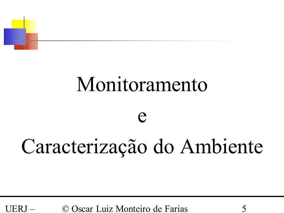 UERJ – Março 2008 © Oscar Luiz Monteiro de Farias5 Monitoramento e Caracterização do Ambiente