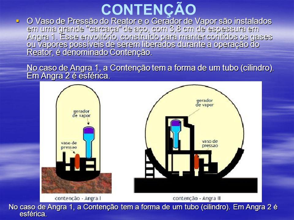 CONTENÇÃO O Vaso de Pressão do Reator e o Gerador de Vapor são instalados em uma grande