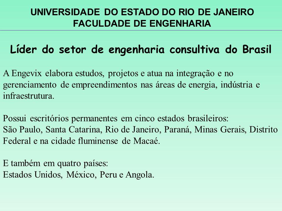 Líder do setor de engenharia consultiva do Brasil A Engevix elabora estudos, projetos e atua na integração e no gerenciamento de empreendimentos nas á