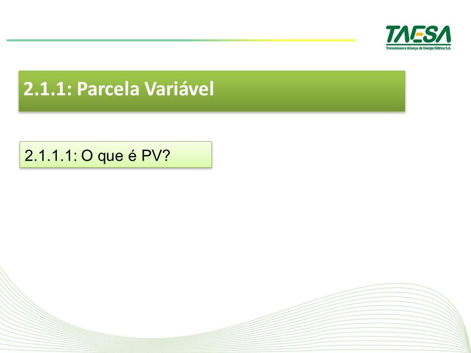 2.1.1: Parcela Variável 2.1.1.1: O que é PV?