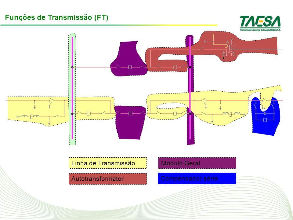 Funções de Transmissão (FT) Linha de Transmissão Autotransformator Módulo Geral Compensador série