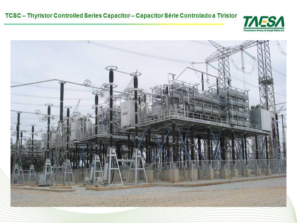 TCSC – Thyristor Controlled Series Capacitor – Capacitor Série Controlado a Tiristor