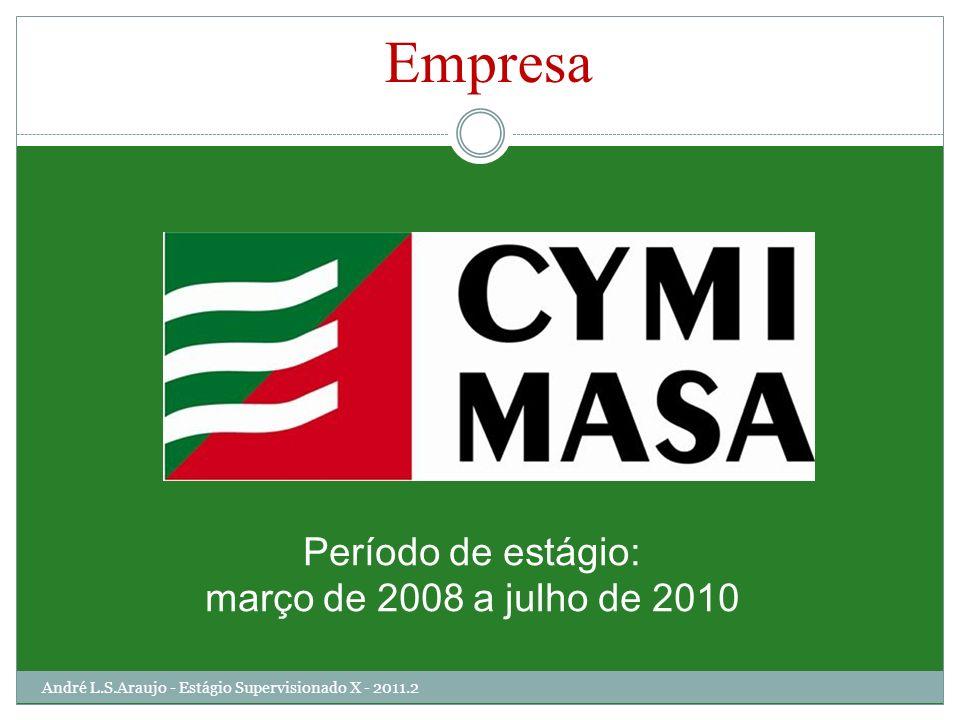 Período de estágio: março de 2008 a julho de 2010 Empresa André L.S.Araujo - Estágio Supervisionado X - 2011.2