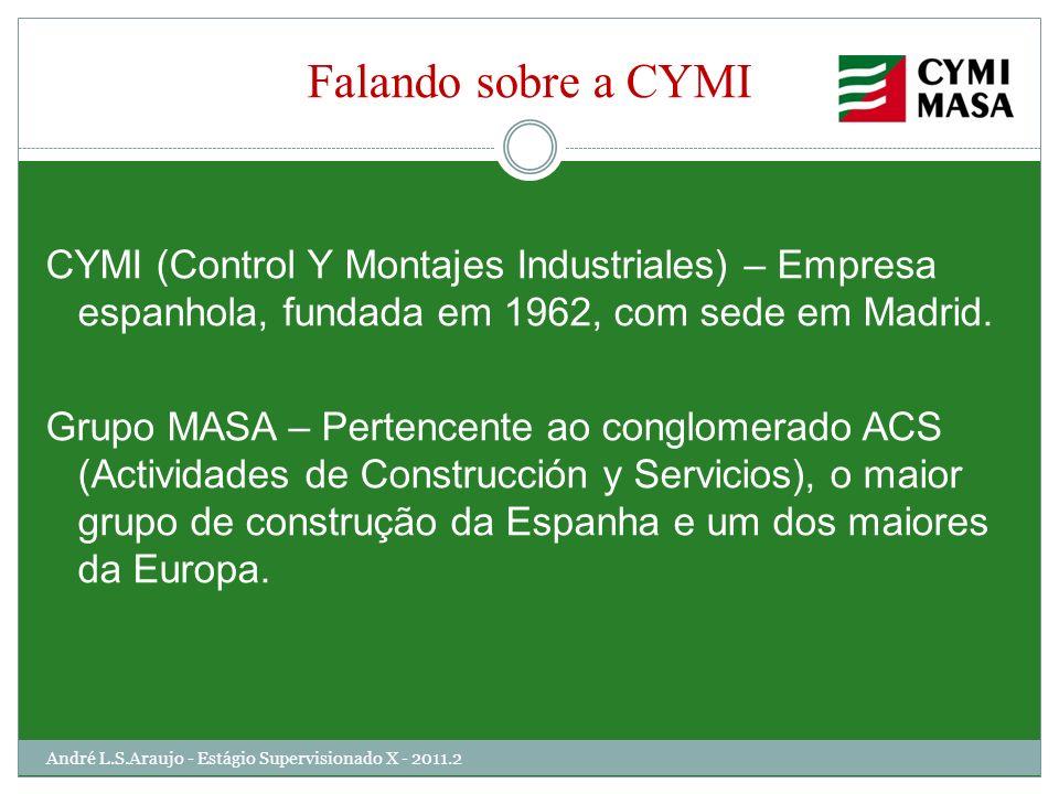 Falando sobre a CYMI CYMI (Control Y Montajes Industriales) – Empresa espanhola, fundada em 1962, com sede em Madrid. Grupo MASA – Pertencente ao cong