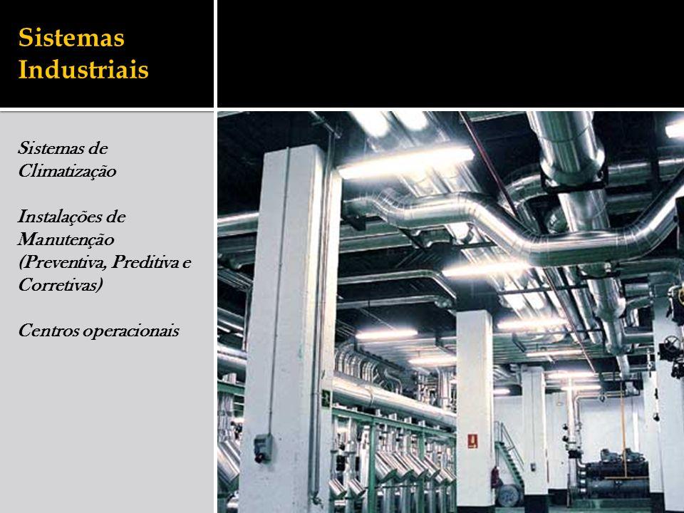 Sistemas Industriais Sistemas de Climatização Instalações de Manutenção (Preventiva, Preditiva e Corretivas) Centros operacionais