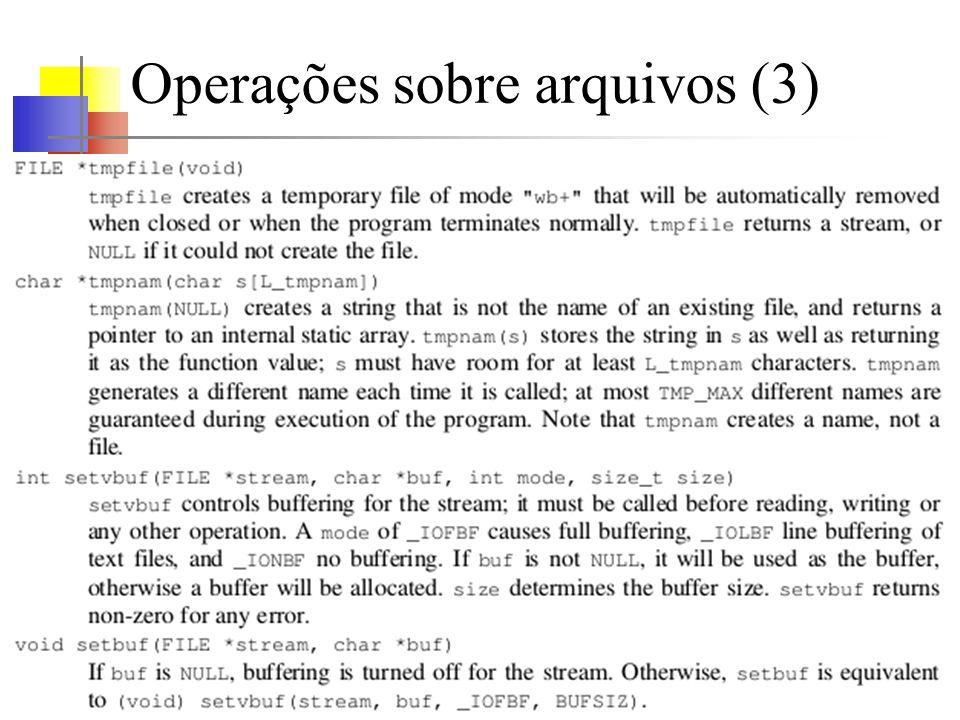 Operações sobre arquivos (3)