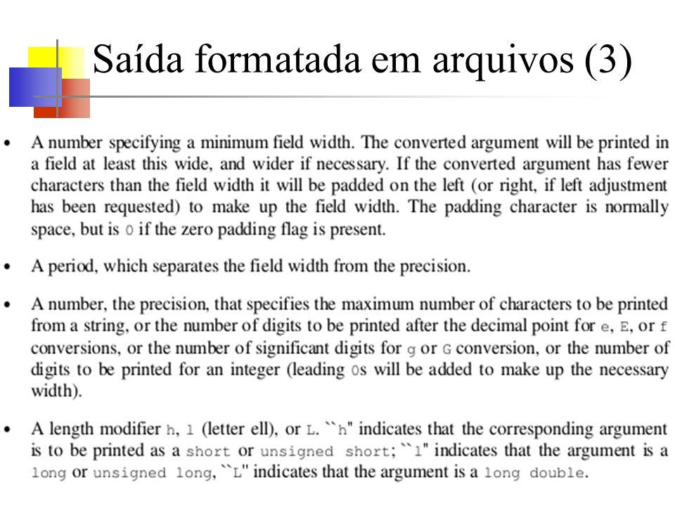 Saída formatada em arquivos (3)