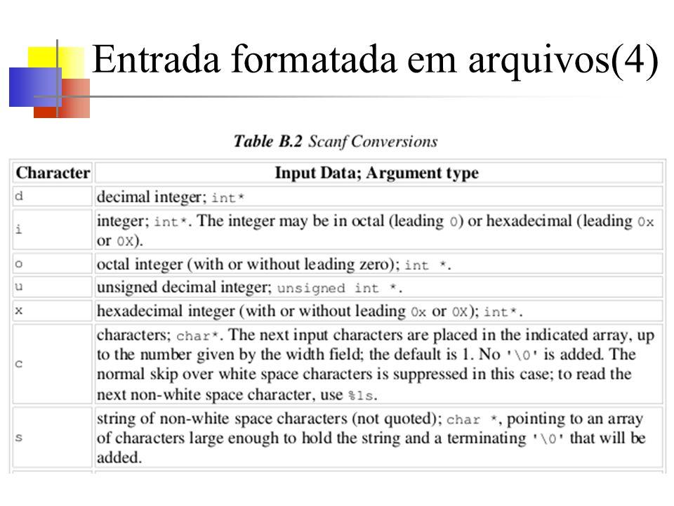 Entrada formatada em arquivos(4)