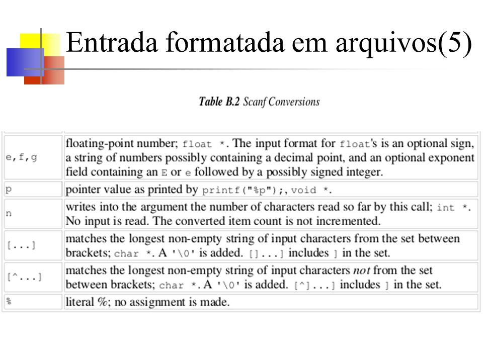 Entrada formatada em arquivos(5)