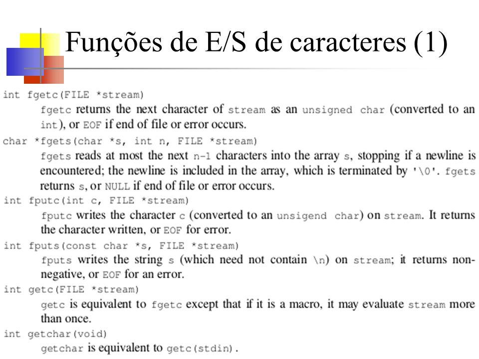 Funções de E/S de caracteres (1)