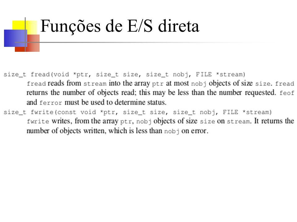 Funções de E/S direta