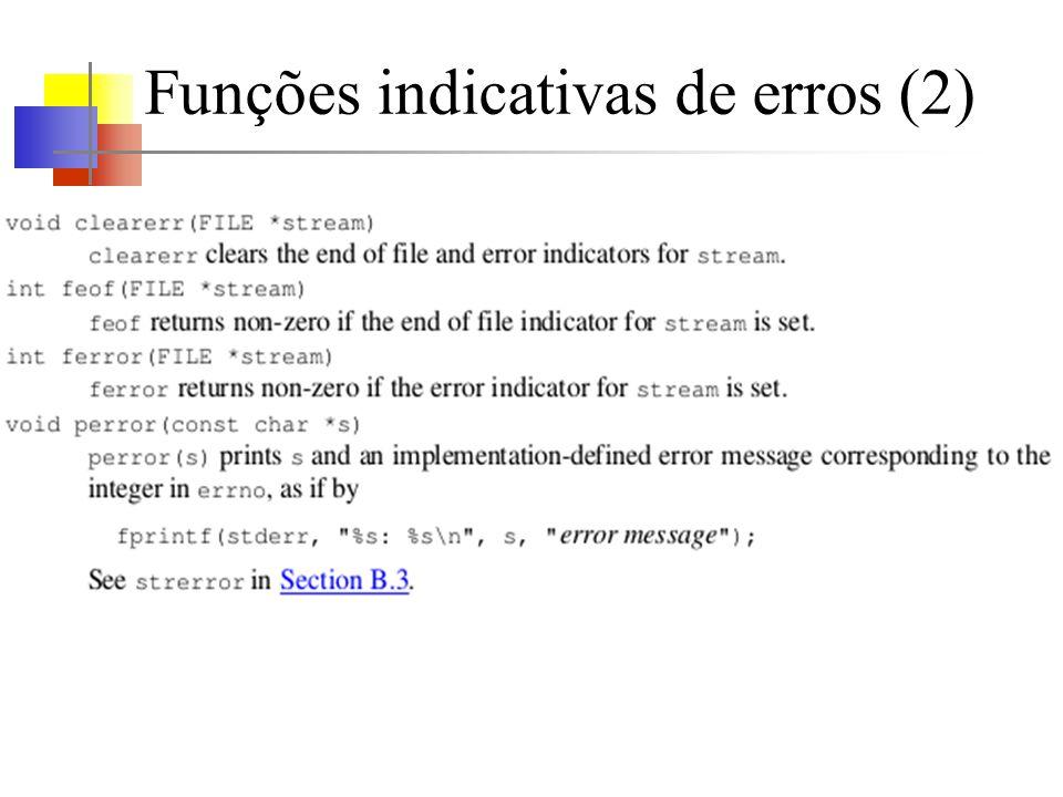 Funções indicativas de erros (2)