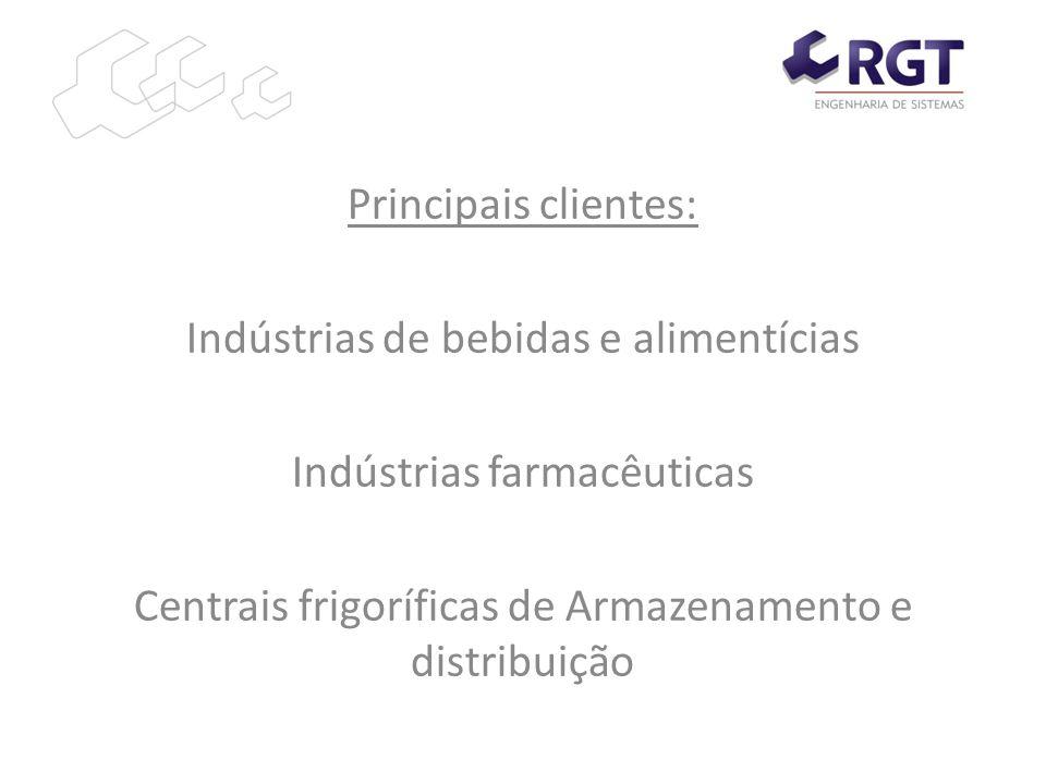 Principais clientes: Indústrias de bebidas e alimentícias Indústrias farmacêuticas Centrais frigoríficas de Armazenamento e distribuição