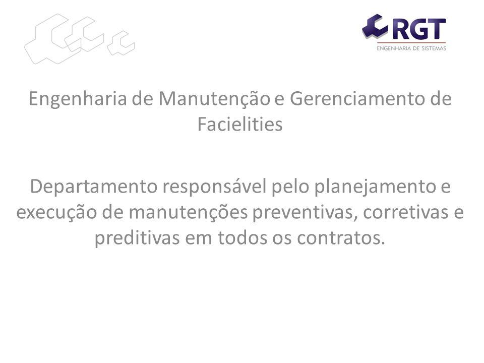Engenharia de Manutenção e Gerenciamento de Facielities Departamento responsável pelo planejamento e execução de manutenções preventivas, corretivas e